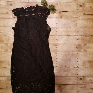 Mossimo Lace Overlay Dress high neck